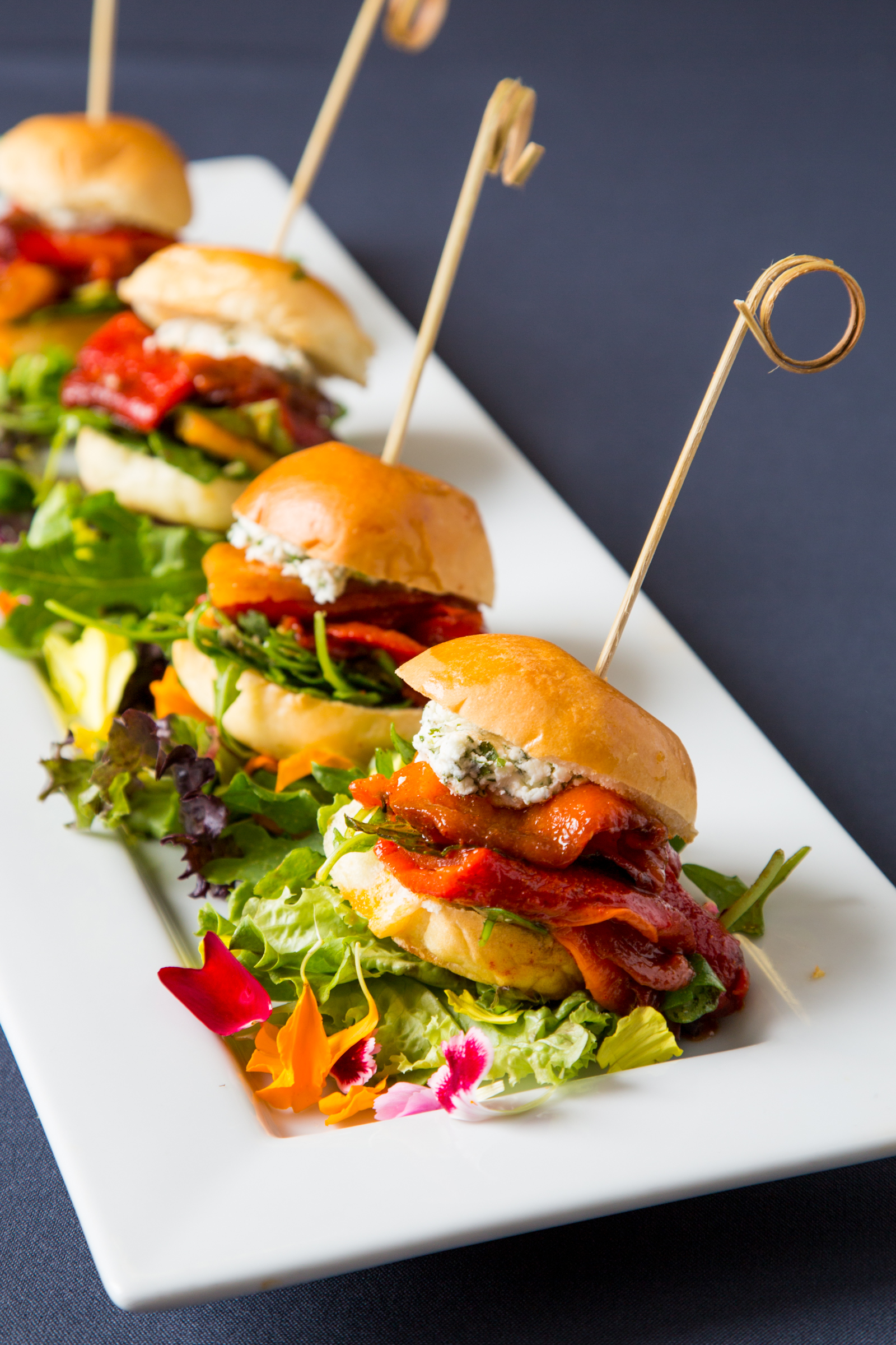 Roasted red pepper sliders